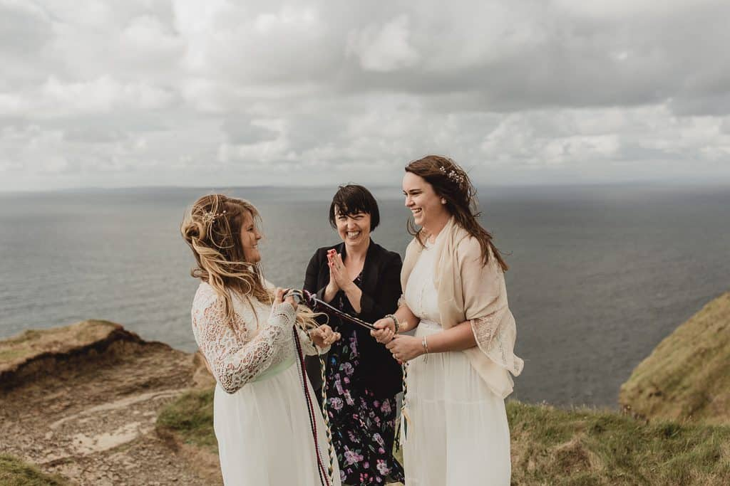 Elopement ceremony on Cliffs of Moher