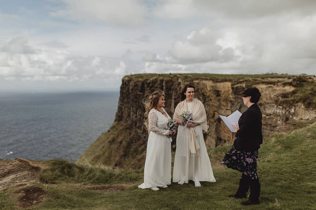 Same sex elopement ceremony Ireland