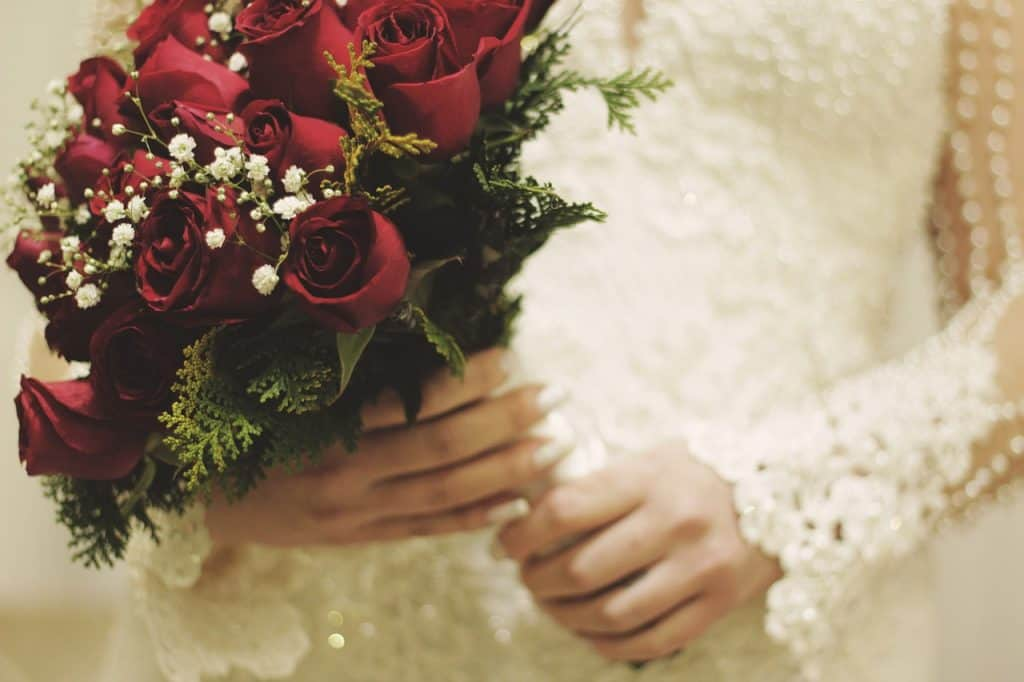 What do wedding flowers symbolise?