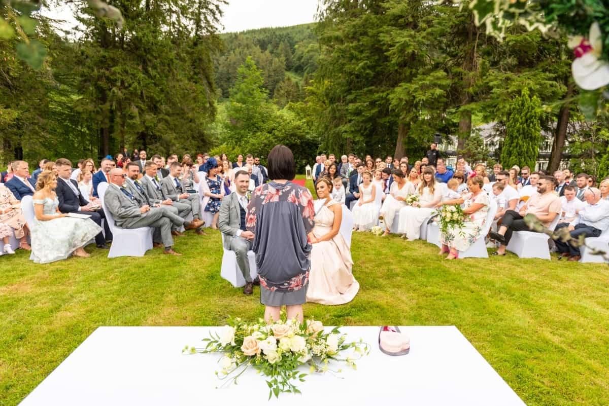 celebrant led ceremony in Glendalough