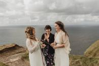 Elopement ceremony on Cliffs of Moher, Ireland