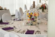 Quirky wedding table decor