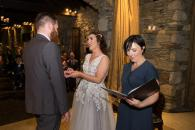 wedding ceremony at Ballybeg House