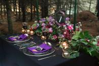 sweetheart wedding table in woods