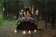 woodland wedding setting